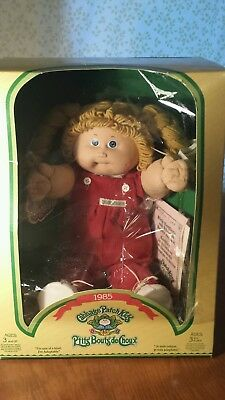 1985 Cabbage Patch Kid Blonde Hair Blue Eyes Canada Docs Opened Galatea Lynn
