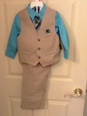 Toddlers boys 4T 4 piece dress suit with vest, shirt, pants and tie