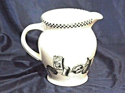 Vintage Robert Gordon Australian Pottery White Water Jug Features Kitchen Utensi