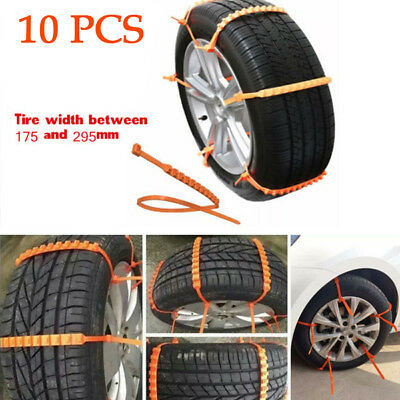 10x TPU Snow Tire Chain Car Truck Wheel Tire Antiskid Chains Non-slip Chains 35""
