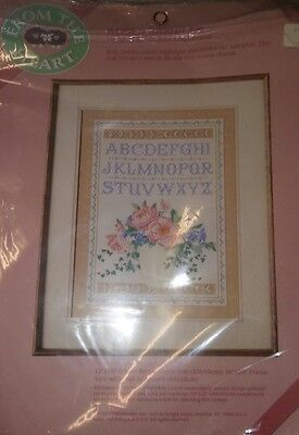 Vintage Crewel Embroidery - Roses Sampler Complete and Unopenned