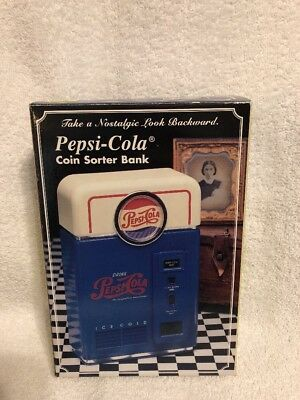 Pepsi Coin Sorter Vending Machine Bank