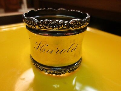 "Victorian Sterling Silver Napkin Ring ""Harold"""