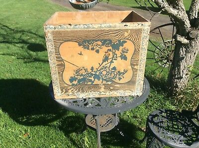 Vintage Wood Tea Box , Paper Label , From Japan, 21 X 18 X 16 Inches, Decorative
