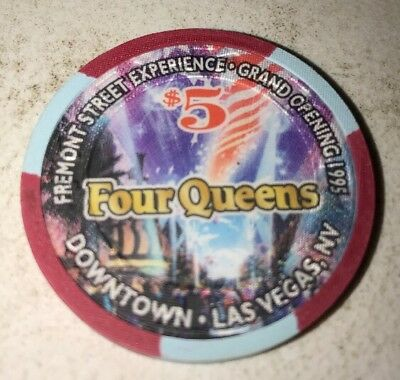 Fremont Street Experience Four Queens $5 Casino Chip Las Vegas Nevada