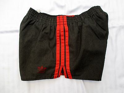 "Vintage Adidas USA Cotton/Poly Track Shorty Shorts Trefoil Men's S 25-38"" Waist"
