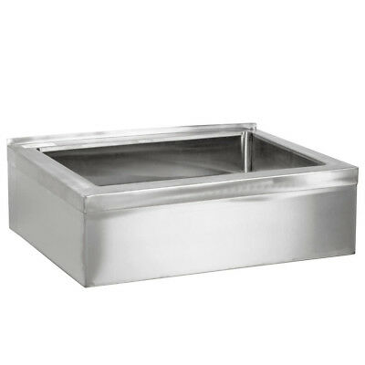 """25"""" Stainless Steel NSF One Compartment Floor Mop Sink - 20"""" x 16"""" x 6"""" Bowl"""