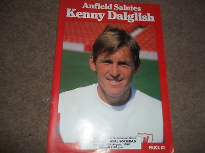 Kenny Dalglish Testimonial Match Liverpool V Real Socieded 14Th August 1990