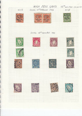 IRELAND STAMP collection on 9 pages - Mounted mint & used