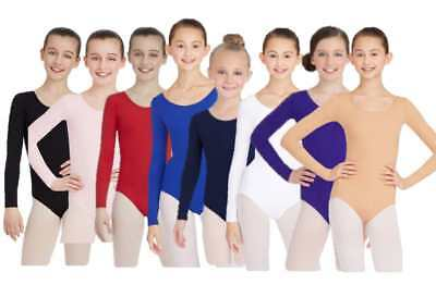 NWT Capezio TB134c Long Sleeve Child Leotard, Choice of Color & Size