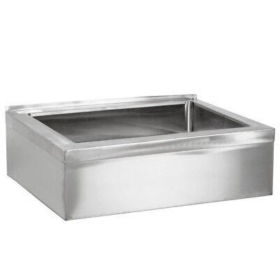 """25"""" Stainless Steel NSF One Compartment Floor Mop Sink - 20"""" x 16"""" x 12"""" Bowl"""