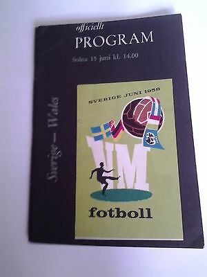 Wales v Sweeden World Cup 1958 Programme