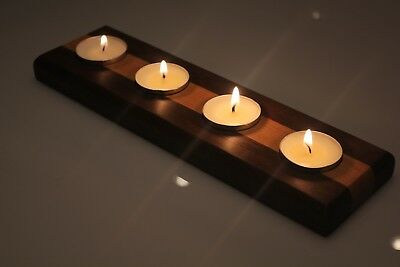 Handmade Wood Tealight Centerpiece | Candle Holder | Walnut and Cherry