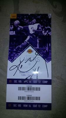 Kobe Bryant Autograph Ticket Final Year L.A. Lakers