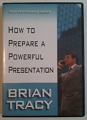 Brian Tracy DVD How To Prepare a Powerful Presentation Peak Performance Series
