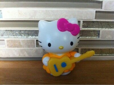 Hello Kitty r Sanrio with Guitar made for McDonalds PVC Plastic Figurine Toy