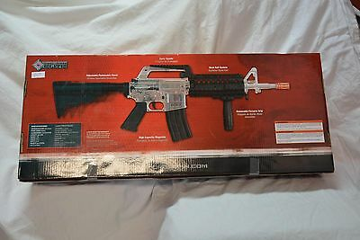 Crosman Stinger R37 Spring Powered Tactical Airsoft Rifle, Clear/B ( ref#bte47 )