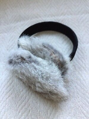 Ladies Winter Collapsible Earmuffs Genuine Fur