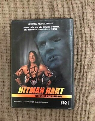 Autographed Bret Hart: Hitman Hart Wrestling With Shadows DVD