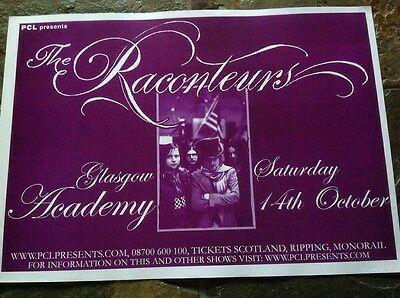 The Raconteurs  - Glasgow gig poster, October 2006