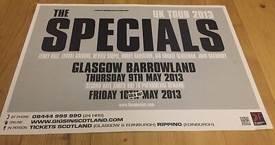 The Specials  - Rare gig poster, Glasgow, May 2013