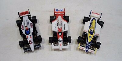 3 car lot Aurora TOMY SUPER G-PLUS slot cars INDY 500 F1 auto racing AFX Mobil