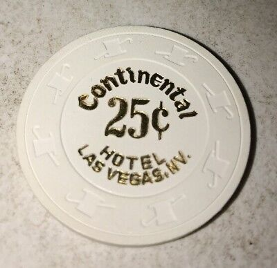 Continental Hotel $.25 Casino Chip Las Vegas Nevada 2.99 Shipping