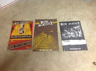 3 OOP CD lp PROMO Posters RISE AGAINST siren song MUSIC ROCK band vintage