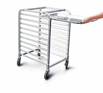 10 Tier Bakery Rack Commercial Kitchen Sheet Cookie Bun Pan with Wheel Brake