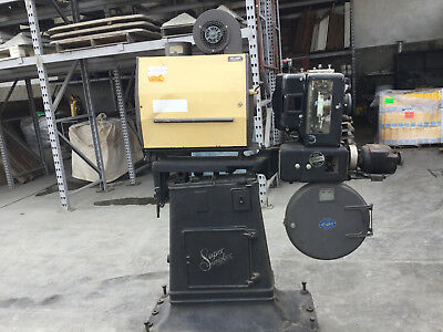 Movie Theatre projector 35 mm vintage 1930's . Super Simplex XL model
