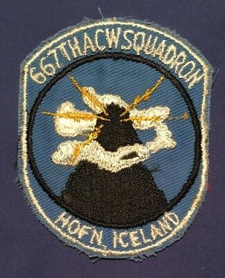 U.S. AIR FORCE 667th ACW SQUADRON HOFN ICELAND shoulder patch