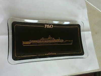 rare P&O , s.s. Oriana glass ashtray.
