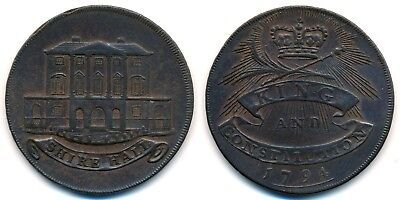 Great Britain, Essex, Chelmsford, 1/2 Penny, 1794. Conder Token.