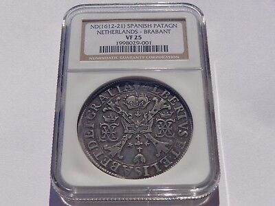 Nd (1612-21) Spanish Patagon Netherlands-Brabant Ngc Vf-25 Super Nice! Must See!