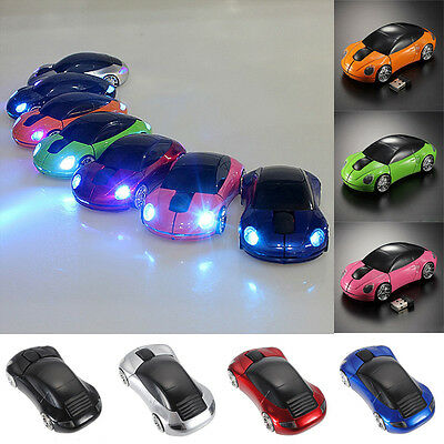 2.4GHz Wireless 1600DPI 3D Car Shape Optical USB 2.0 Gaming Mouse for PC/laptop