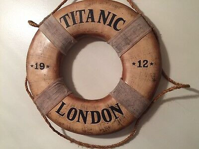 Nautical Titanic 1912 Life Saver Prop Display Decor