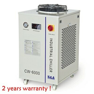 CW-6000 Industrial Water Chiller for CO2 100W RF Metal Laser Tube 1P 220V, 60HZ