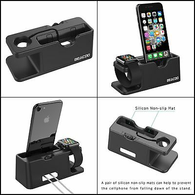 Charger Holder for Apple Watch iWatch iPhone 7 Charging Dock Stand Bracket Black