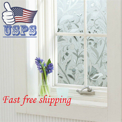 45*500cm Waterproof Frosted Privacy Bedroom Bathroom Window Glass Film Sticker