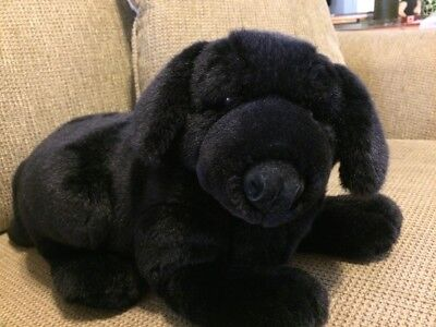 "Applause Lou Rankin Black Lab  Dog Plush 12"" Long"