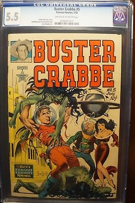 Buster Crabbe #5 (7/1952) Amazing Frazetta Cover! One Of My Faves! Sweet Cgc 5.5