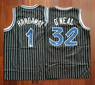 Anfernee Penny Hardaway Shaquille O'Neal Autographed Jersey Orlando Magic JSA