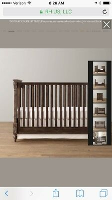 restoration hardware Jourdan crib coverts into toddler bed