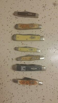 Lot of 7 Case pocket knives