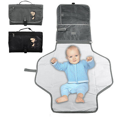 Nursery Baby Toddler Nappy Diaper Changing Mat Zipper Foldable Pad Handbag Style