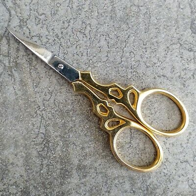 1 Birch Needlework Scissors Gold Plated Stainless Steel Embroidery Quilting