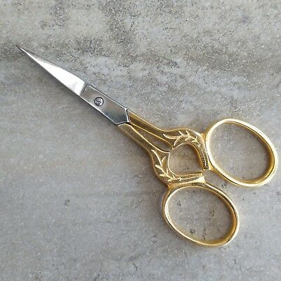 1 Birch Needlework Scissors Gold Plated Stainless Steel Embroidery Sewing