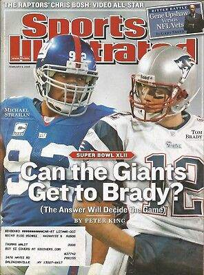 New England Patriots Tom Brady 2008 Sports Illustrated Giants Michael Strahan