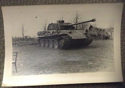 Ww2 Us Photo Of Captured Panther Tank