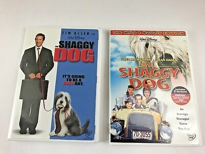 Lot of 2 DVD Disney The Shaggy Movies Original + Remake Fred MacMurray Tim Allen